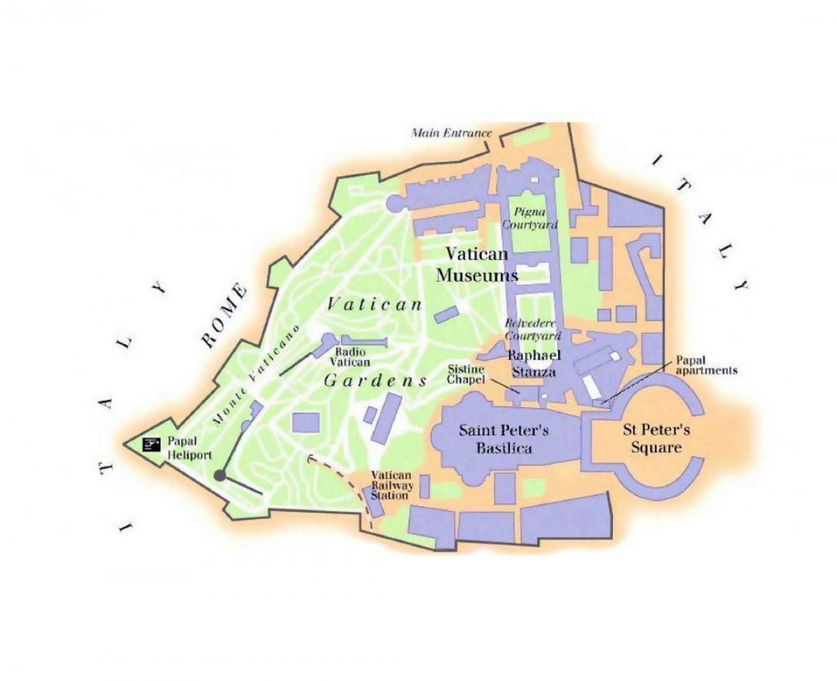Muzeul Vatican Hartă Harta De Muzeele Vaticanului și Capela